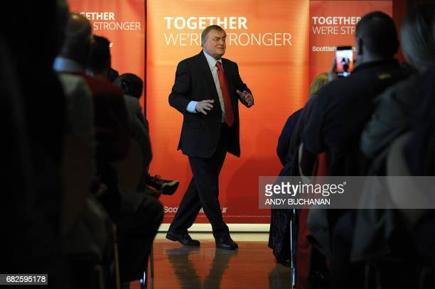 Former Labour Party Deputy Prime Minister John Prescott speaks at a Scottish Labour Campaign event at the Adam Smith Theatre in Kirkcaldy north of...