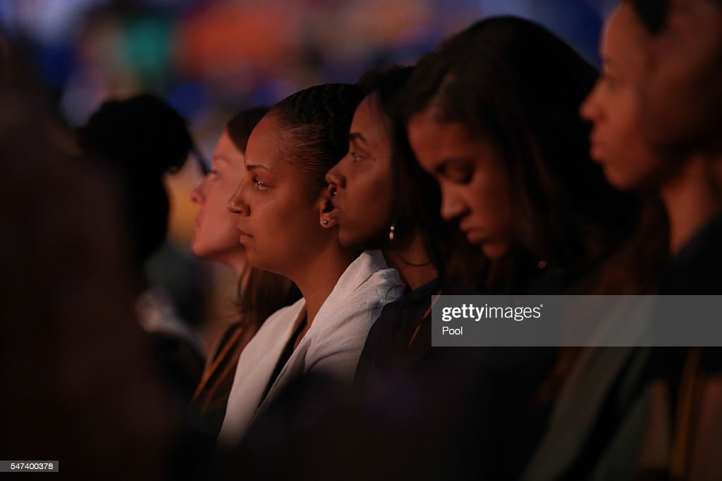 Former Lady Vol basketball players Cierra Burdick and Ariel Massengale during the Pat Summitt Celebration of Life at ThompsonBoling Arena on July 14...