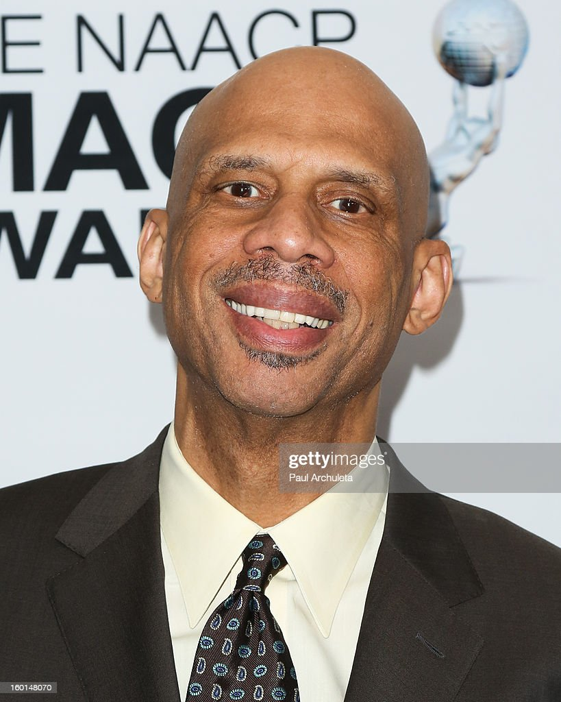 Former LA Laker <a gi-track='captionPersonalityLinkClicked' href=/galleries/search?phrase=Kareem+Abdul-Jabbar&family=editorial&specificpeople=206219 ng-click='$event.stopPropagation()'>Kareem Abdul-Jabbar</a> attends the 44th NAACP Image Awards nominee's luncheon on January 26, 2013 in Beverly Hills, California.