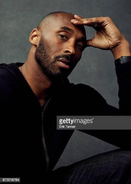 Former LA Laker Kobe Bryant from 'Dear Basketball' pose at the 2017 Tribeca Film Festival portrait studio on April 22 2017 in New York City