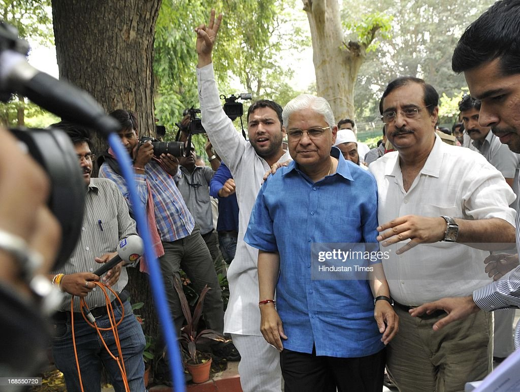 Former Law Minister Ashwani Kumar leaves after a press conference at his residence, a day after submitting his resignation on May 11, 2013 in New Delhi, India. Kumar resigned after getting into trouble for making deletions in a CBI report on its coal allocation investigations meant for the Supreme Court.