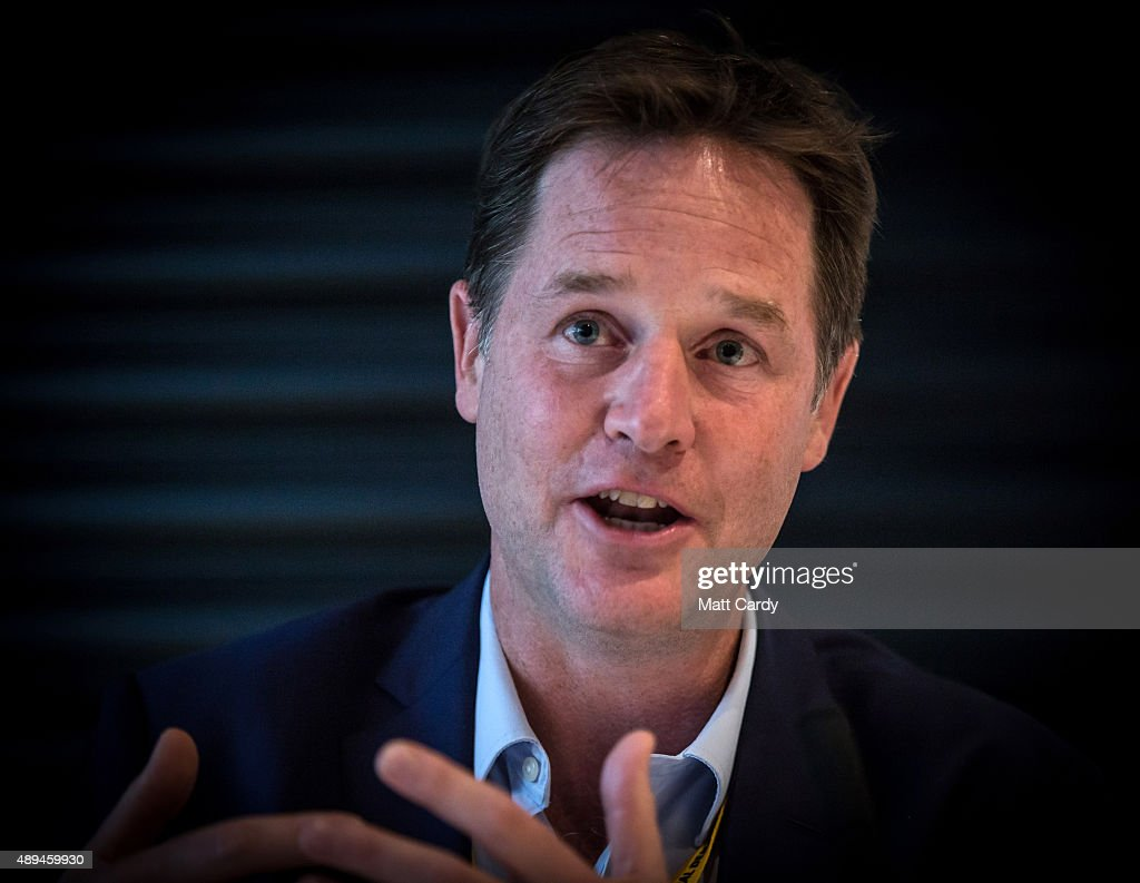 Former leader Nick Clegg speaks at a fringe event on the third day of the Liberal Democrats annual conference on September 21 2015 in Bournemouth...