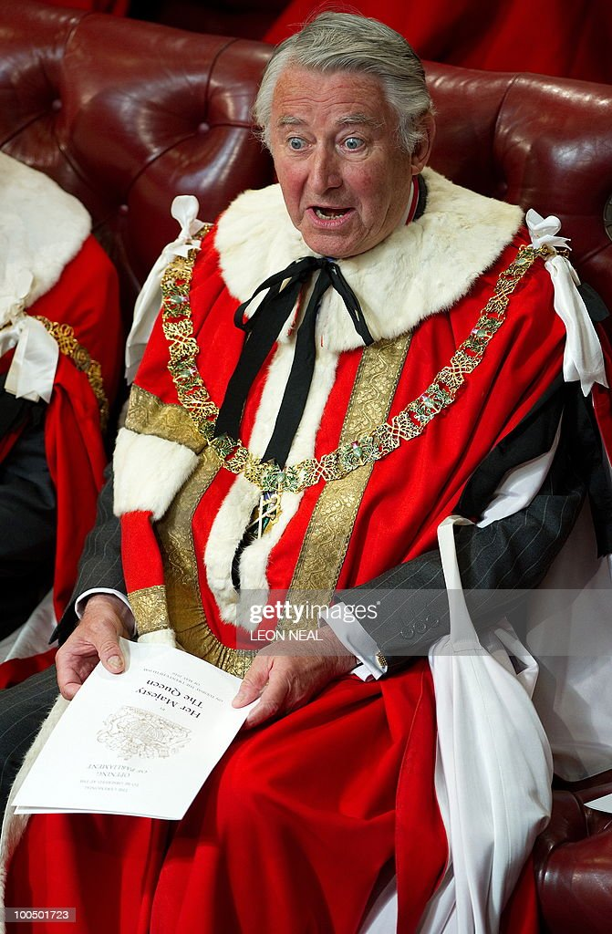 Former leader of Britain's Liberal Democrat Party, Lord David Steel, reacts as he waits for Britain's Queen Elizabeth II to address the House of Lords, during the State Opening of Parliament, at the Houses of Parliament, in Westminster, central London on May 25, 2010. Britain's Queen Elizabeth II set out the new coalition government's legislative programme on Tuesday in a ceremony of pomp and history following the closest general election for decades. AFP PHOTO/Leon Neal/Pool
