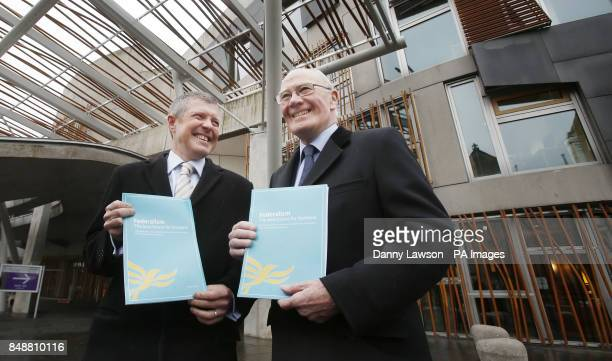 Former Liberal Democrat leader Sir Menzies Campbell and Scottish Liberal Democrat leader Willie Rennie launch a Home Rule and Community Rule...
