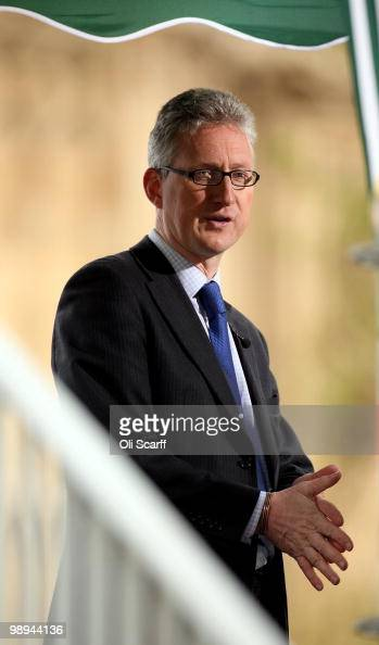 Former Liberal Democrat MP Lembit Opik speaks to members of the press outside the Houses of Parliament as talks between senior figures from the...