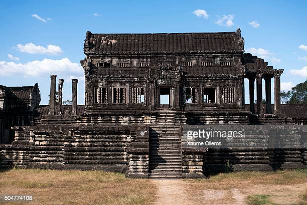 A former library stands at Angkor Wat on January 1 2016 in Siem Riep Cambodia Angkor was the capital city of Khmer Empire which flourished from...