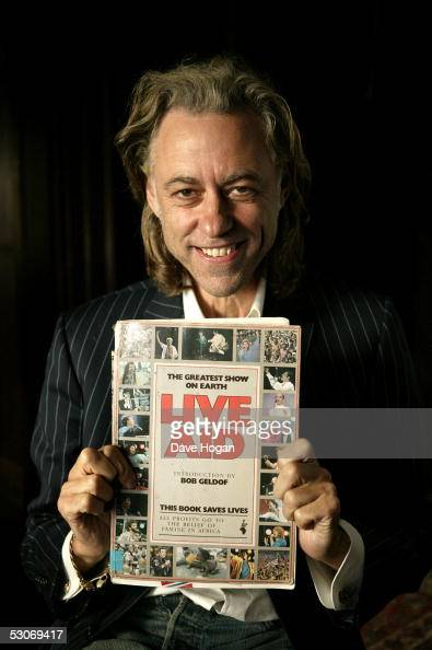 Former Live Aid artist Sir Bob Geldof poses for a portrait to commemorate the 20th anniversary of Live Aid on June 14 2005 in London England The...