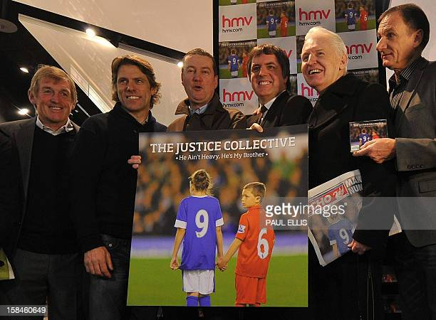 Former Liverpool football manager Kenny Dalglish comedian John Bishop Peter Hooten of band The Farm Steve Rotherham MP former Liverpool player Phil...