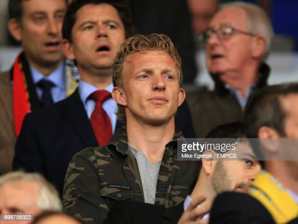 Former Liverpool player Dirk Kuyt in the stands