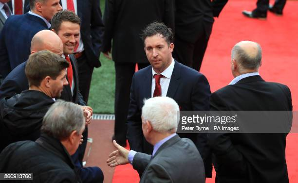 Former Liverpool player Robbie Fowler during an opening event at Anfield Liverpool