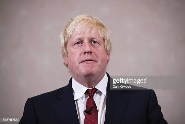 Former London Mayor and Conservative MP Boris Johnson speaks as he rules himself out of becoming the next Conservative party leader at St Ermin's...