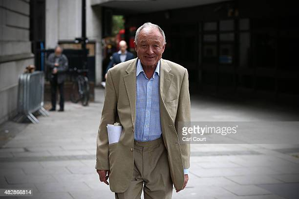 Former London mayor and Labour politician Ken Livingstone arrives to attend a Labour party leadership rally in which Jeremy Corbyn will make a speech...