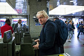 Former London Mayor Boris Johnson enters the London Underground after leaving his Islington home on July 1 2016 in London England Mr Johnson backed...