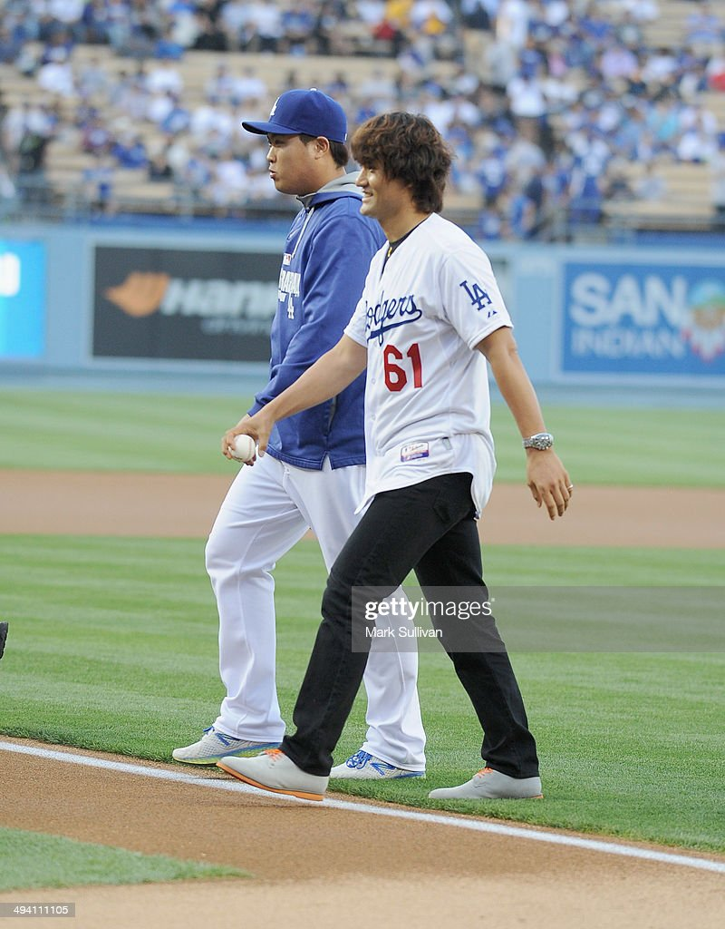Celebrity Appearances At L.A. Dodgers Game - May 27, 2014