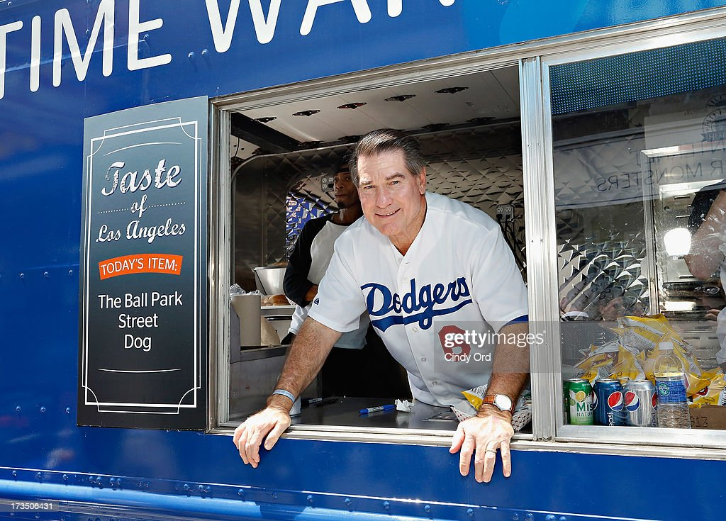 Former Los Angeles Dodgers player <a gi-track='captionPersonalityLinkClicked' href=/galleries/search?phrase=Steve+Garvey&family=editorial&specificpeople=210829 ng-click='$event.stopPropagation()'>Steve Garvey</a> attends Time Warner Cable MLB All Star Week - Food Trucks, Wifi & Players on July 15, 2013 in New York City.