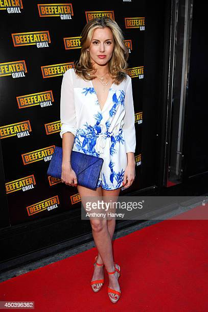 Former Made in Chelsea star Caggie Dunlop attends the Beefeater Grill's 40th birthday bash a celebration of 40 years of serving great steak at The...