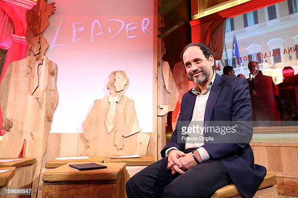 Former magistrate antimafia and candidate for premier judge Antonio Ingroia poses before 'Leader' Italian TV Show at the Colonna Palace Hotel on...