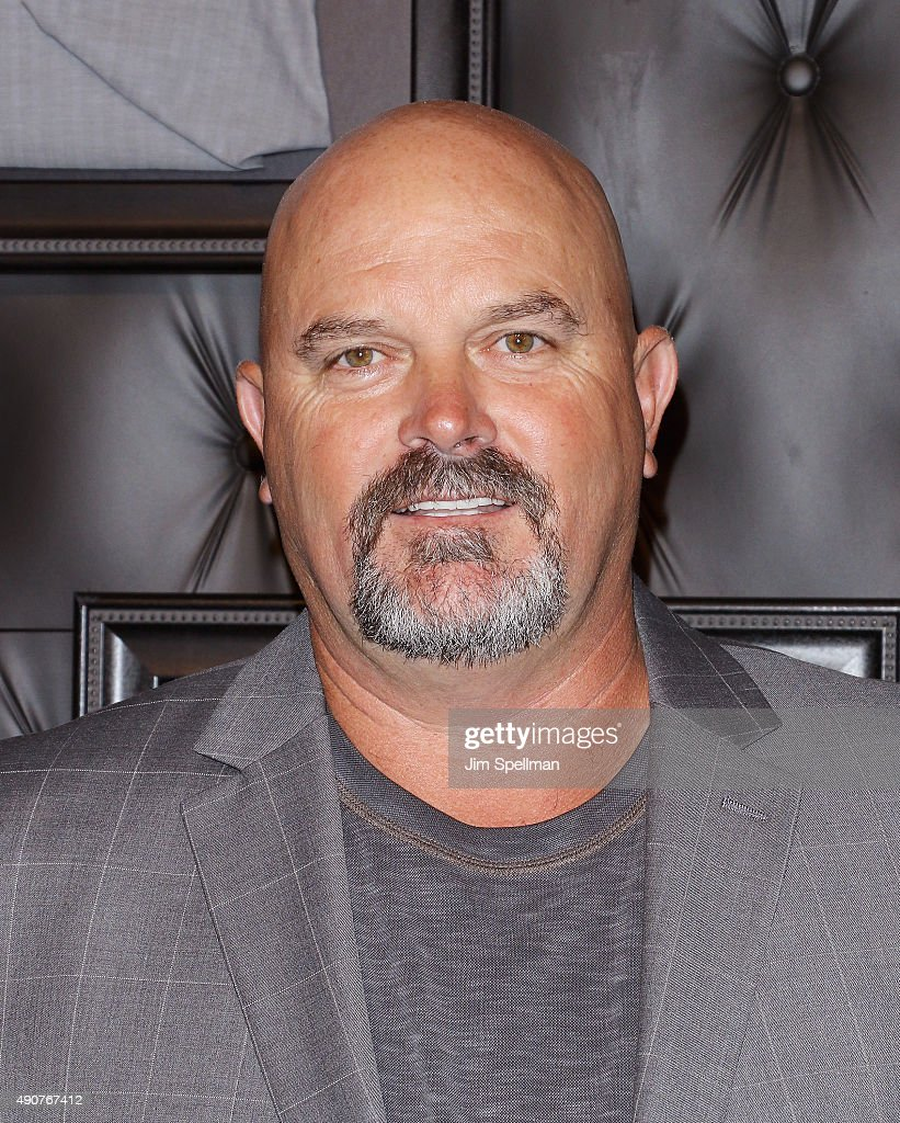Former major league baseball pitchers <a gi-track='captionPersonalityLinkClicked' href=/galleries/search?phrase=David+Wells+-+Baseball+Player&family=editorial&specificpeople=202481 ng-click='$event.stopPropagation()'>David Wells</a> attends the JCPenney x Michael Strahan launch party at JCPenney on September 30, 2015 in New York City.