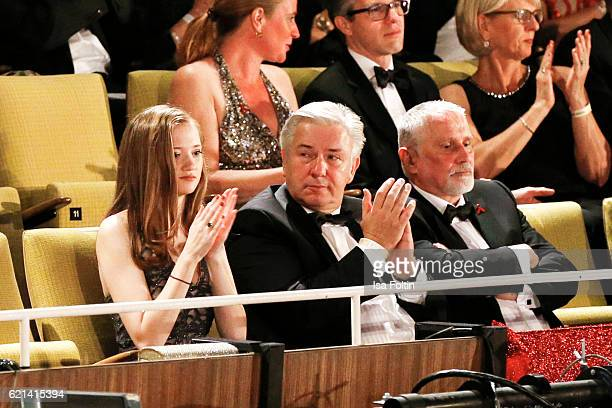 Former major of Berlin Klaus Wowereit and his husband Joern Kubicki attend the 23rd Opera Gala at Deutsche Oper Berlin on November 5 2016 in Berlin...