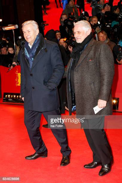 Former major of Berlin Klaus Wowereit and his husband Joern Kubicki attend the 'Django' premiere during the 67th Berlinale International Film...