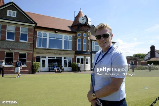 Former Manchester United manager David Moyes outside the clubhouse during day one of the 2014 Open Championship at Royal Liverpool Golf Club Hoylake