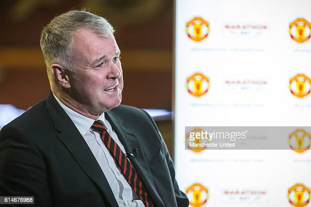 Former Manchester United player Gary Pallister attends a Marathonbet event on October 13 2016 in Manchester England