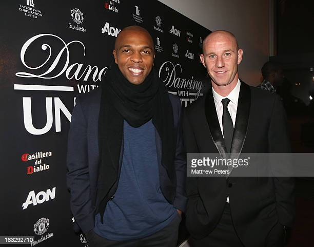 Former Manchester United players Quinton Fortune and Nicky Butt arrive at Dancing for United a ballroom dancing event in aid of the Manchester United...