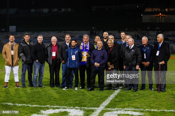 Former Maori All Blacks from the BOP region honoured as part of Maori Language week before the round six Mitre 10 Cup match between Bay of Plenty and...