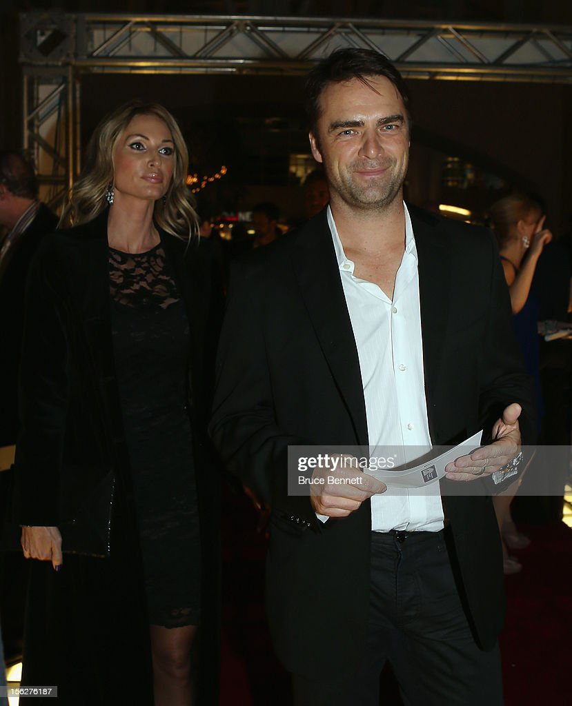 Former Maple Leaf Curtis Joseph arrives for the Hockey Hall of Fame induction ceremony at Brookfield Place on November 12, 2012 in Toronto, Canada.