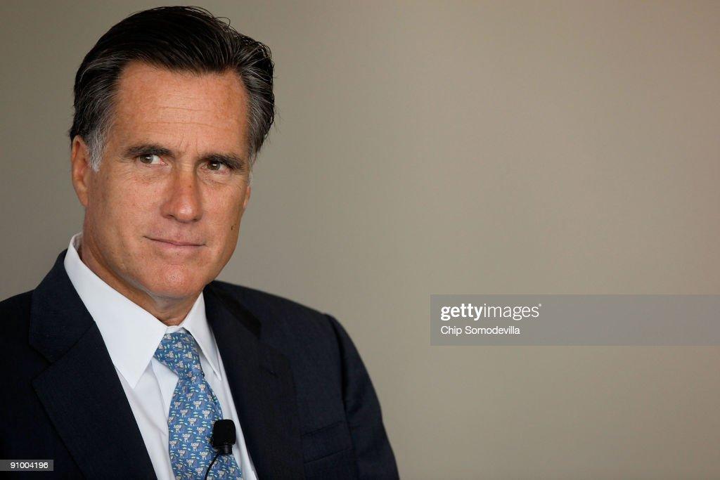 "Mitt Romney Addresses Forum On ""Advancing And Defending Democracy"""
