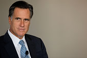 Former Massachusetts Governor and GOP presidential hopeful Mitt Romney addresses a forum of the Foreign Policy Initiative at the W Hotel September 21...
