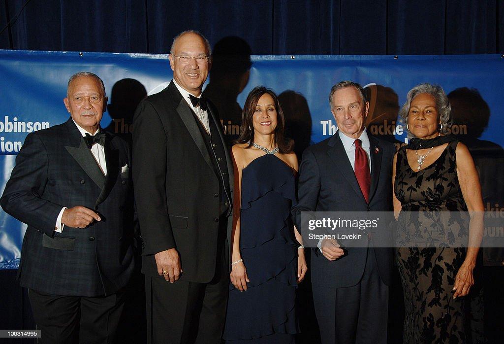 Former Mayor David Dinkins Leonard S Coleman Della Britton Baeza Mayor Mike Bloomberg and Rachel Robinson