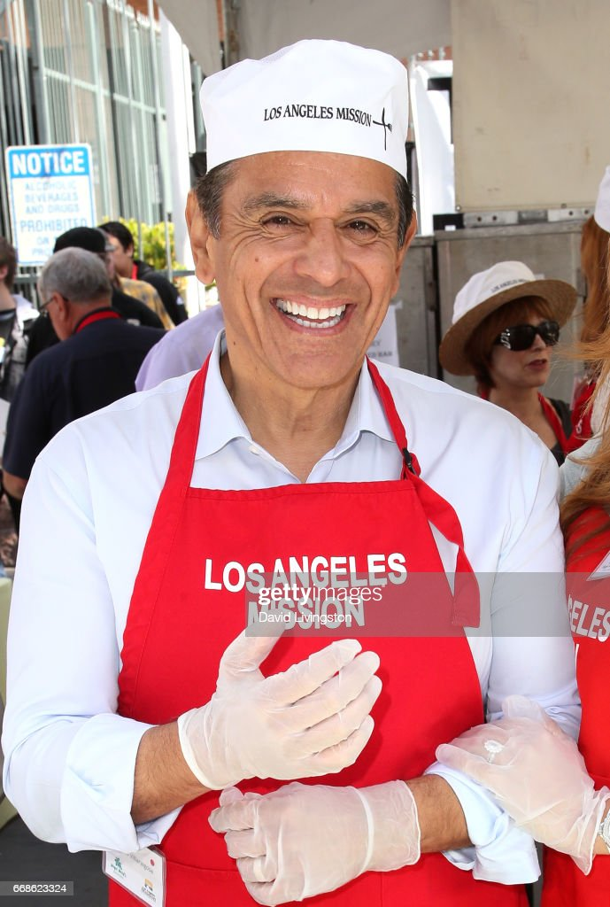 Former Mayor of Los Angeles Antonio Villaraigosa attends Los Angeles Mission's Easter Celebration at Los Angeles Mission on April 14, 2017 in Los Angeles, California.