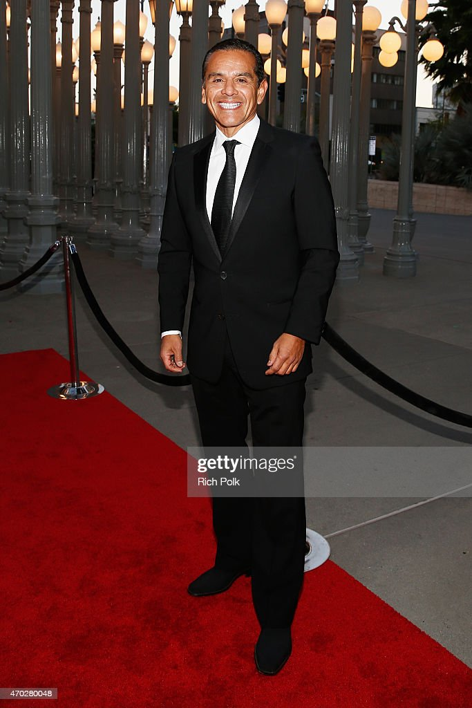 Former Mayor of Los Angeles Antonio Villaraigosa attends the LACMA 50th Anniversary Gala sponsored by Christie's at LACMA on April 18 2015 in Los...