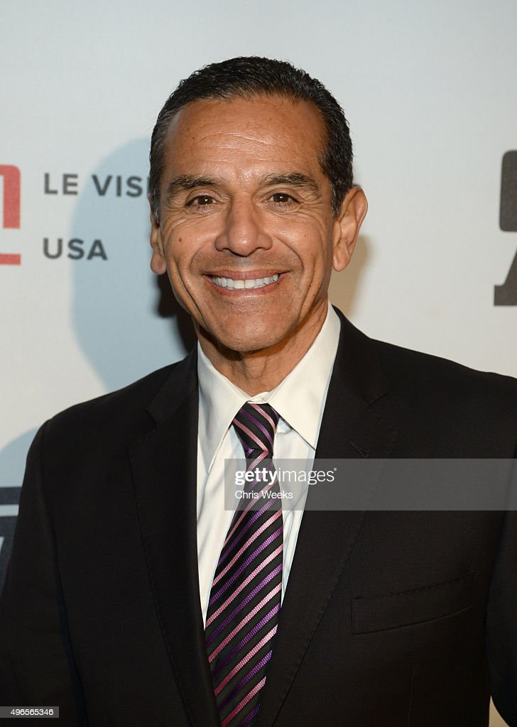 Former Mayor of Los Angeles <a gi-track='captionPersonalityLinkClicked' href=/galleries/search?phrase=Antonio+Villaraigosa&family=editorial&specificpeople=178925 ng-click='$event.stopPropagation()'>Antonio Villaraigosa</a> attends the Le Vision Pictures USA launch event at Sofitel Hotel on November 9, 2015 in Los Angeles, California.