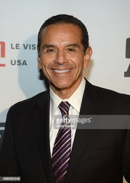 Former Mayor of Los Angeles Antonio Villaraigosa attends the Le Vision Pictures USA launch event at Sofitel Hotel on November 9 2015 in Los Angeles...