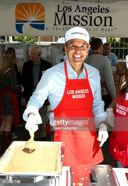 Former Mayor of Los Angeles Antonio Villaraigosa attends the Los Angeles Mission's Easter Celebration Of New Life at Los Angeles Mission on March 25...
