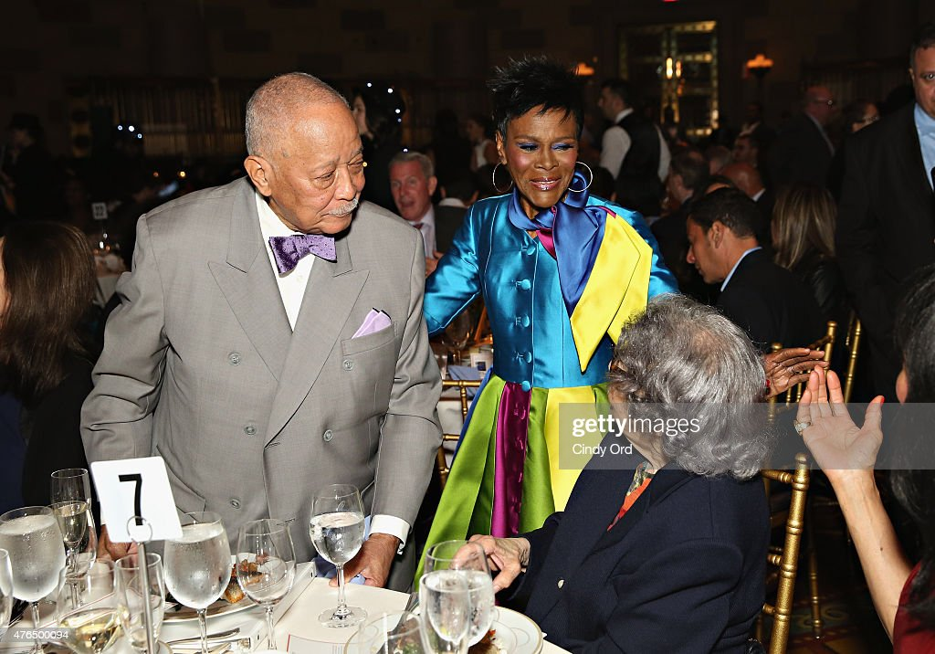 Former Mayor of New York City David Dinkins and actress Cicely Tyson attend the I Have A Dream Foundation 'Spirit of the Dream' Gala at Gotham HallCicely Tyson on June 9, 2015 in New York City.