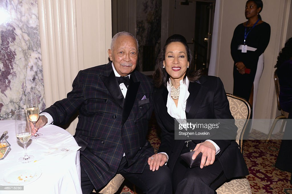 Former Mayor of New York City David Dinkins and President CEO Della Britton Baeza attend the Jackie Robinson Foundation Awards Dinner at Waldorf...