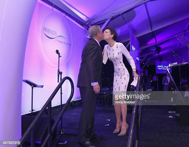 Former Mayor of New York City Michael Bloomberg and Diana Taylor attend Friends of Hudson River Park Sweet 16 Gala at Pier 26 at Hudson River Park on...