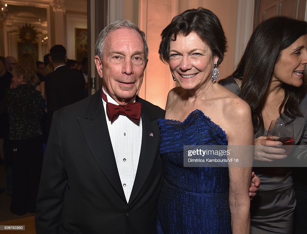 Former Mayor of New York City, Michael Bloomberg and Diana Taylor attend the Bloomberg & Vanity Fair cocktail reception following the 2015 WHCA Dinner at the residence of the French Ambassador on April 30, 2016 in Washington, DC.