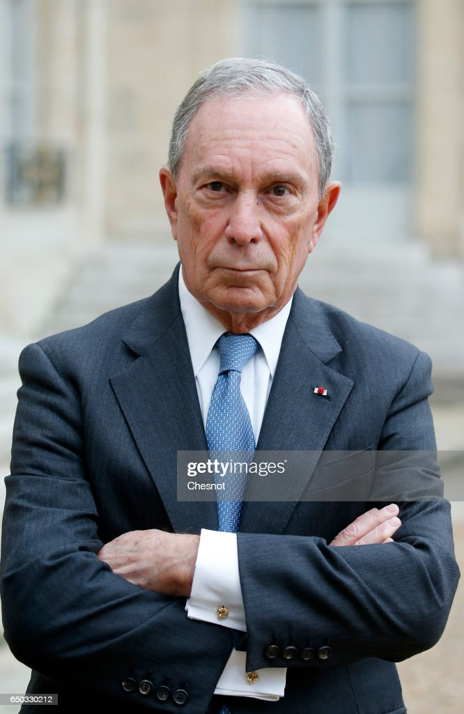 French President Francois Holland Receives Michael Bloomberg At Elysee Palace In Paris