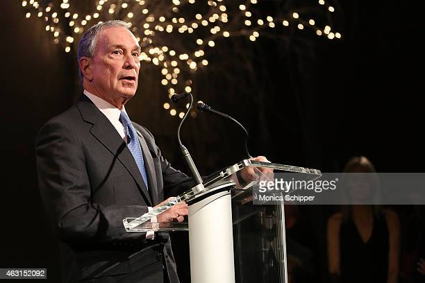 Former Mayor of New York City Michael Bloomberg speaks at the 'Not One More' Event at Urban Zen on February 10 2015 in New York City
