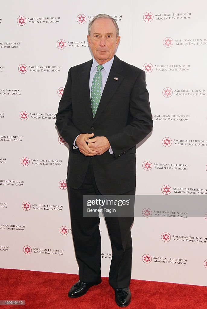 Former Mayor of New York City, Presenter <a gi-track='captionPersonalityLinkClicked' href=/galleries/search?phrase=Michael+Bloomberg&family=editorial&specificpeople=171685 ng-click='$event.stopPropagation()'>Michael Bloomberg</a> attends AFMDA Red Star Gala at The Grand Hyatt New York on December 2, 2015 in New York City.