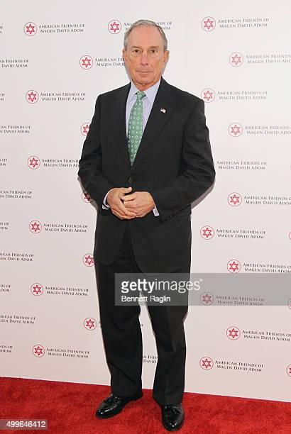 Former Mayor of New York City Presenter Michael Bloomberg attends AFMDA Red Star Gala at The Grand Hyatt New York on December 2 2015 in New York City