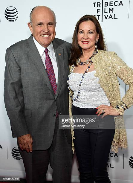 Former Mayor of New York City Rudy Giuliani and Judith Giuliani attend the Opening Night premiere of 'Live From New York' during the 2015 Tribeca...