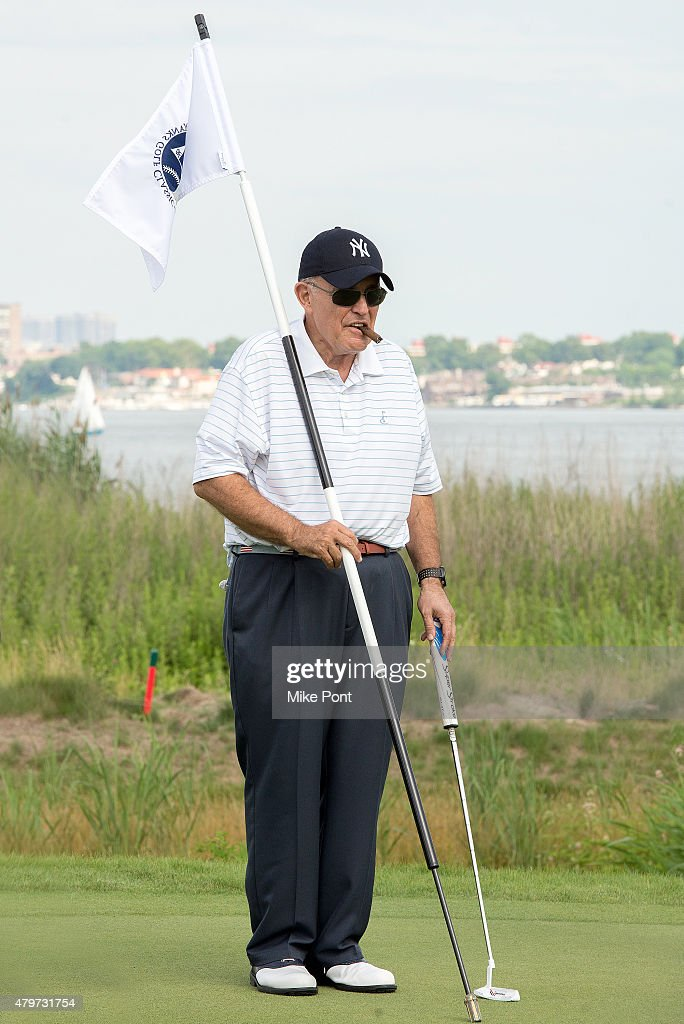 Former Mayor of New York City Rudy Giuliani attends the 2015 Hank's Yanks Golf Classic at Trump Golf Links Ferry Point on July 6, 2015 in New York City.