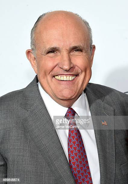 Former Mayor of New York City Rudy Giuliani attends the Opening Night premiere of 'Live From New York' during the 2015 Tribeca Film Festival at the...