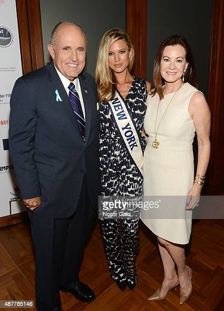 Former Mayor of New York City Rudy Giuliani Miss NY USA 2015 Nicole Kulovany and Judith Giuliani attend the annual Charity Day hosted by Cantor...