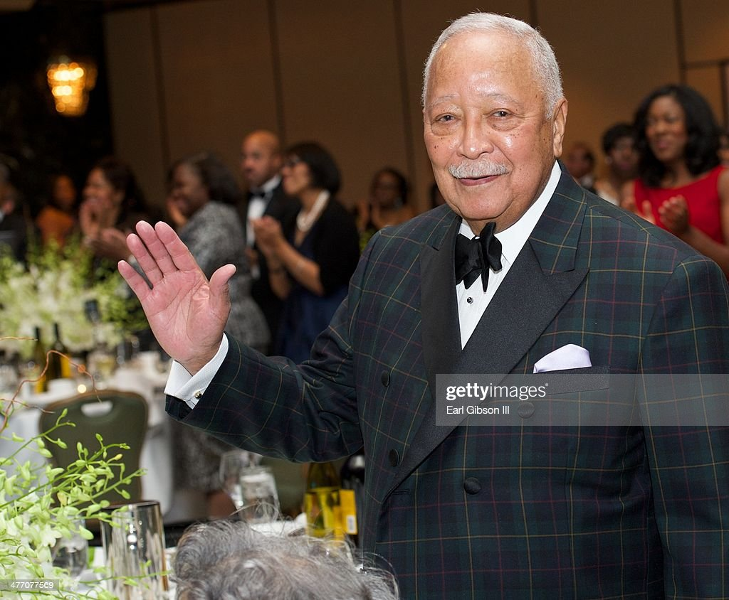 Former Mayor of New York David Dinkins attends the 'UNCF Lighting The Way To Better Futures' 2014 Dinner at New York Hilton on March 7, 2014 in New York City.